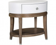 Anthony Baratta Luciana Oval Bedside Table