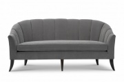 Modern Luxury Settee with Channel Back