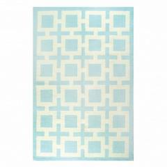LIGHT BLUE NIXON PERUVIAN LLAMA FLAT WEAVE RUG