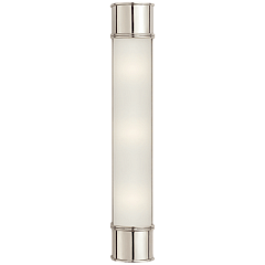 "Бра - Oxford 24"" Bath Sconce in Polished Nickel with Frosted Glass CHD 1553PN-FG"