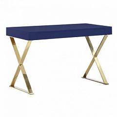 WRITING DESK WITH BOLD X-LEGS
