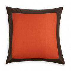 ORANGE AND BROWN SIAM SILK PILLOW